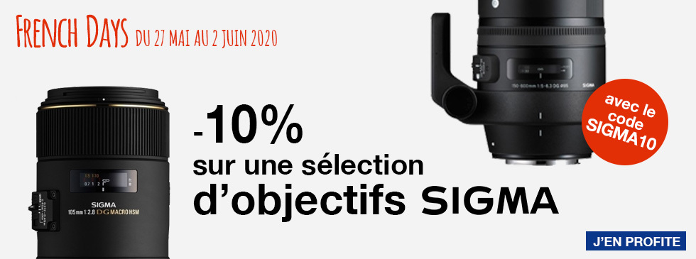French Days : Sigma -10%