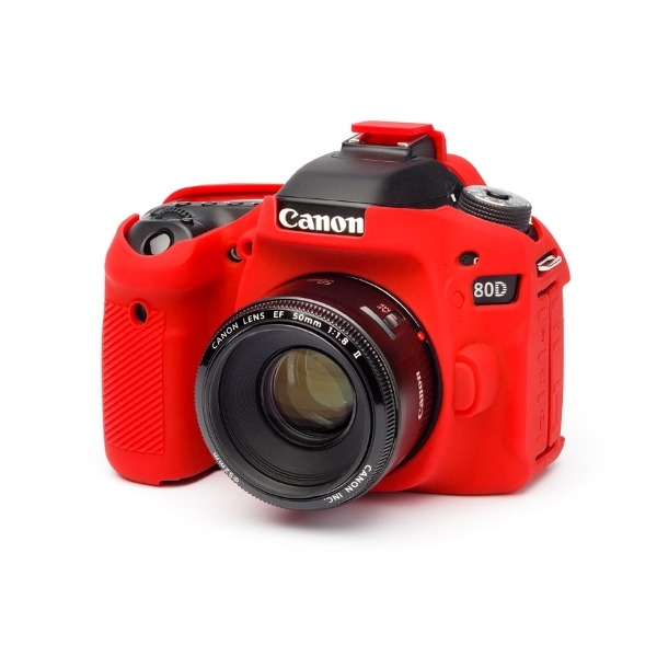 Coque silicone pour Canon 80D - Rouge